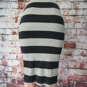BB Dakota Black & Gray Stretch Pencil Skirt